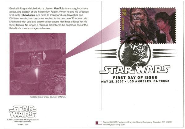 2007 26c Star Wars-Hans Solo