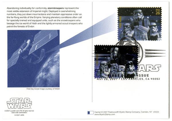 2007 26c Star Wars-Strmtroop w/stamp add