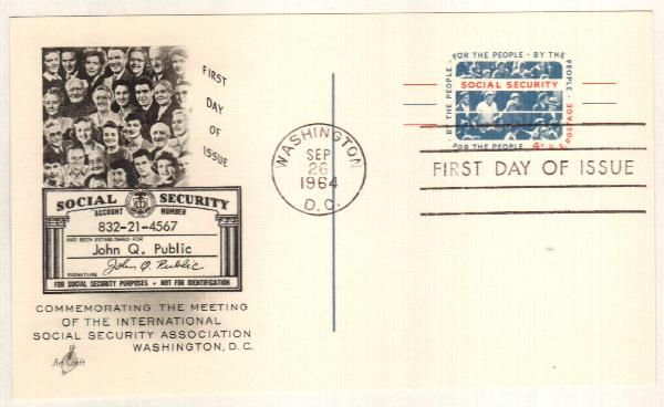 US 1964 Social Security Postal Card