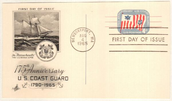 US 1965 4c Coast Guard Postal Card