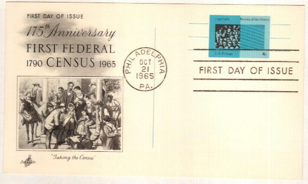 US 1965 4c Bureau of Census Postal Card