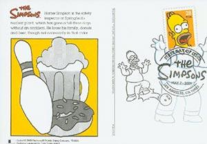 2009 28c Simpsons, Homer post card