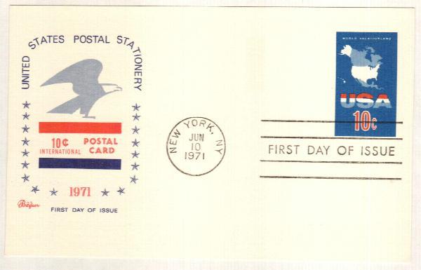 1971 10c Visit U.S.A (N.Y)