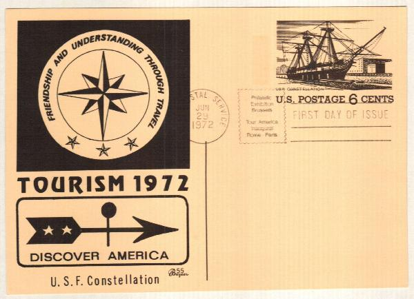 US 1972 6c USF Constellation Postal Card