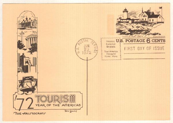 US 1972 6c Gloucester Postal Card