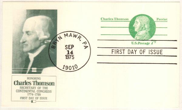 US 1975 7c Charles Thomson