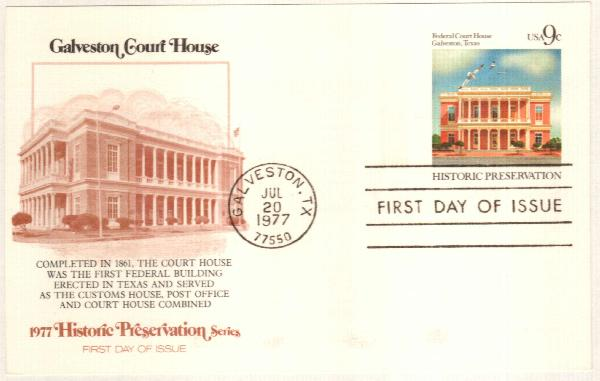 US 1977 9c Federal Court House Postal Cd