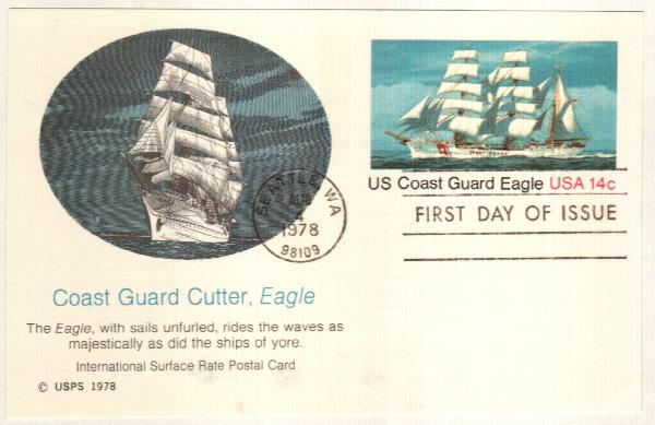 US 1978 14c Coast Guard Postal Card