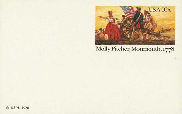 U.S. #UX77 – 1978 Molly Pitcher Postal Card.