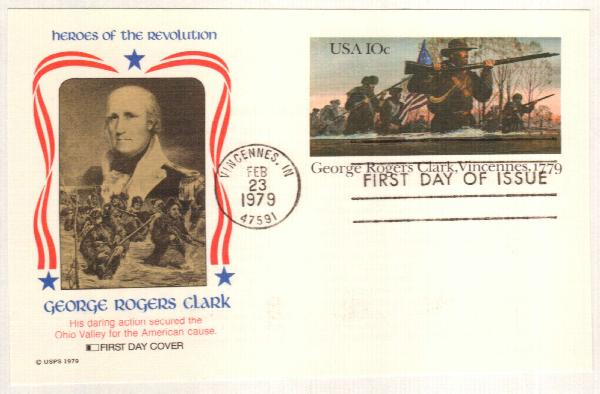 US 1979 10c George R. Clark Postal Card