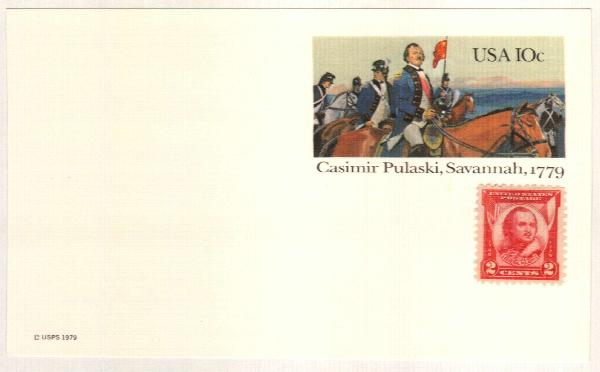 US 1979 10c Casimir Pulaski Postal Card