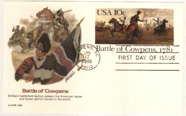 US 1981 10c Battle of Cowpens Postal Crd