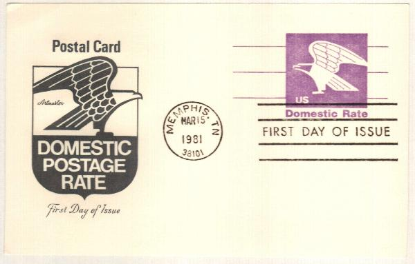 US 1981 Non-denom Eagle Postal Card