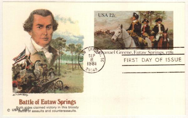 US 1981 12c Nathanael Greene Postal Card