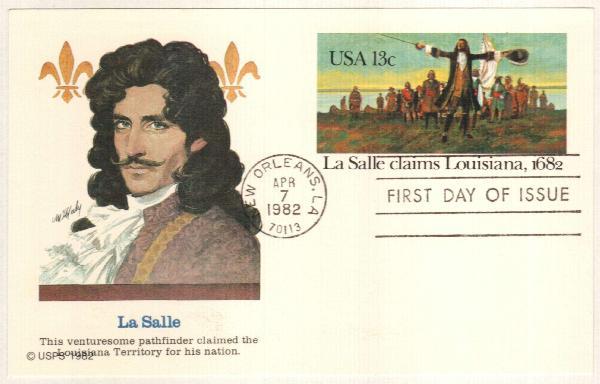 US 1982 13c La Salle Postal Card