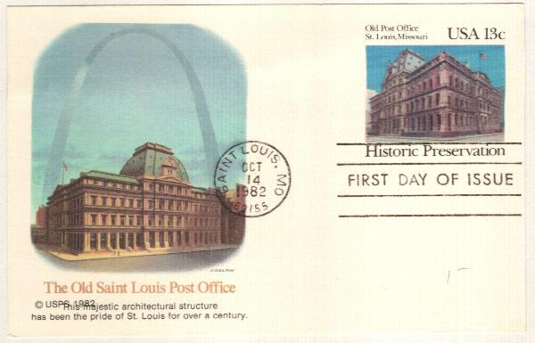 US 1982 13c Old Post Office Postal Card
