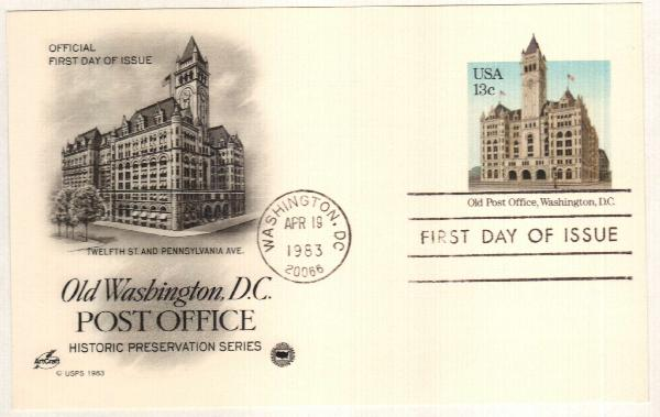 US 1983 13c Old Post Office Postal Card