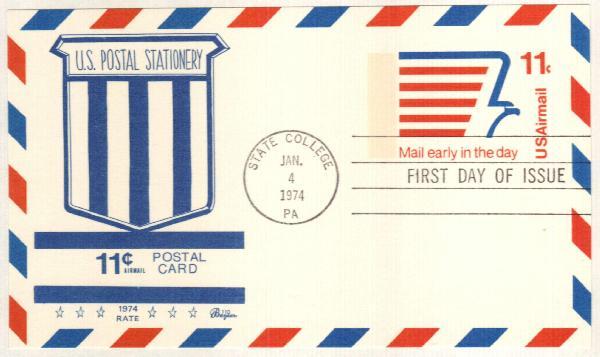 1974 11c Mordern Eagle