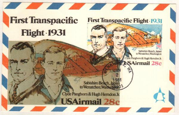 1981 28c First Transpacific Flight