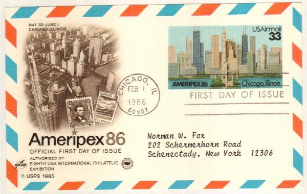 1986 33c AMERIPEX