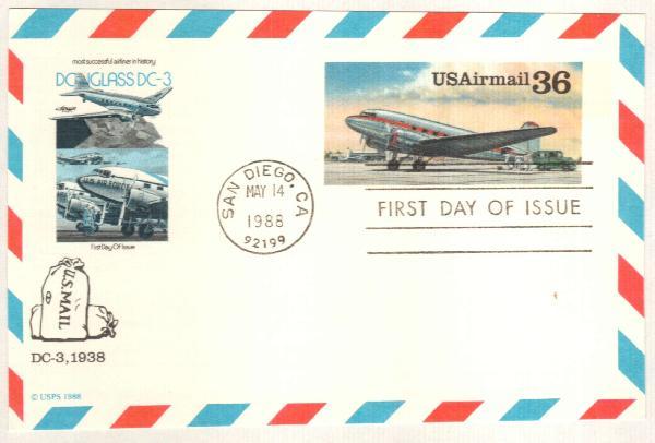 1988 36c DC-3