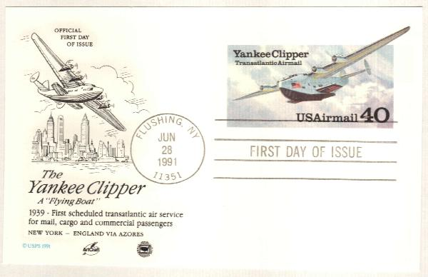 1991 Airmail Post C. Yankee Clipper
