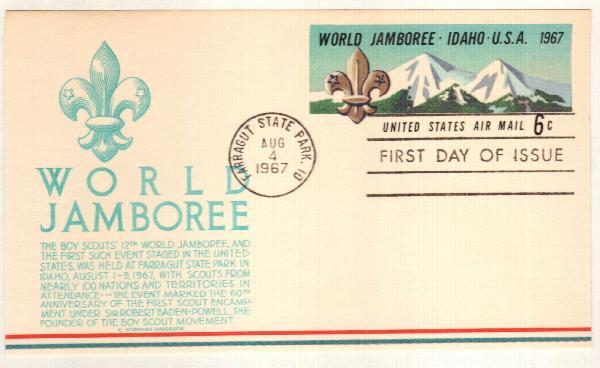 1967 6c Boy Scout Jamboree Postcard