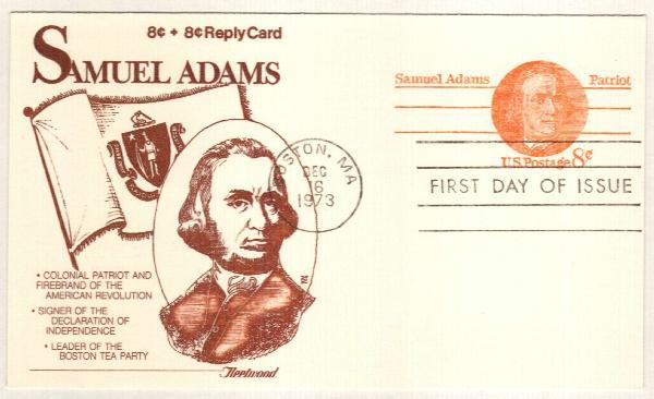 1973 8c Samuel Adams