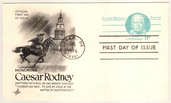 1976 9c Caesar Rodney