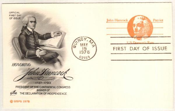 1978 10c John Hancock