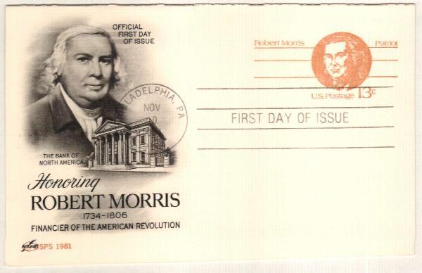 1981 13c Robert Morris