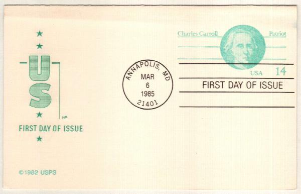1985 14c Charles Carroll