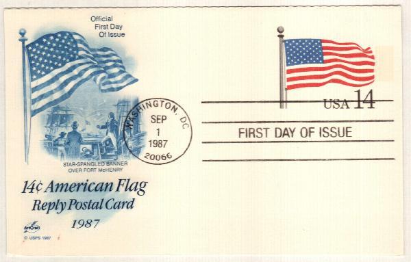 1987 14c Stars & Stripes