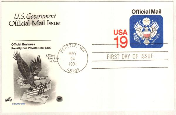 1991 OFFICIAL POSTAL CARD