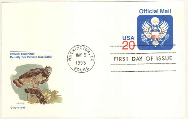 1995 20c Official Mail