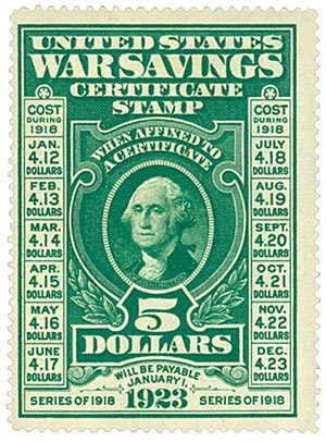 U.S. #WS2 shows the cost of the stamp depending on when it was purchased as well as the date it would be payable.
