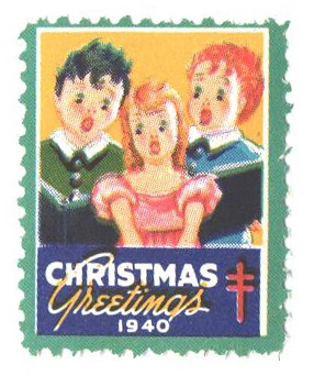 1940 National Tuberculosis Assn. Christmas Seal - perf 12 1/2