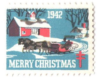 1942 National Tuberculosis Assn. Christmas Seal - perf 12 1/2