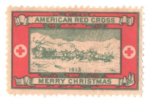 1913 American Red Cross Christmas Seal - Type III, perf 12