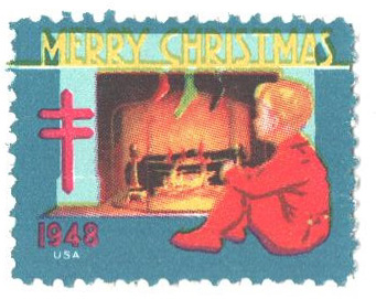 1948 National Tuberculosis Assn. Christmas Seal - perf 12x 12 1/2