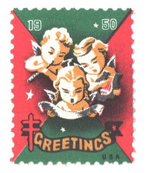 Christmas Seal 2020 Stamp Value 1950 National Tuberculosis Assn. Christmas Seal   perf 12 1/2x 12