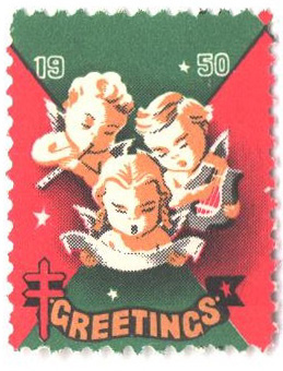 1951 National Tuberculosis Assn. Christmas Seal - perf 12 1/2