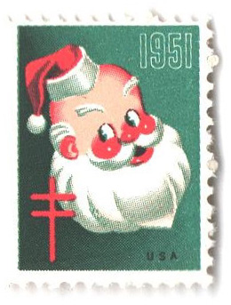 1951 National Tuberculosis Assn. Christmas Seal - perf 12 1/2x 12