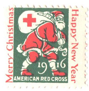 1916 American Red Cross Christmas Seal - perf 12 1/2x12