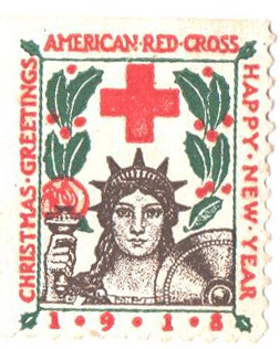 1918 American Red Cross Christmas Seal - Type I, perf 11 1/2x12