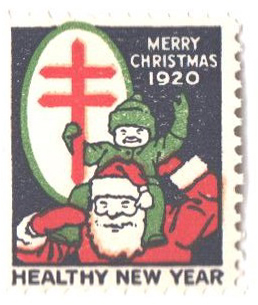 1920 National Tuberculosis Assn. Christmas Seal - Type I, perf 12x12 1/2