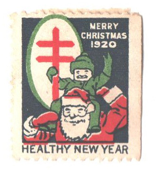 1920 National Tuberculosis Assn. Christmas Seal - Type II, perf 12 1/2