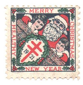 Christmas Seal 2020 Stamp Value 1921 National Tuberculosis Assn. Christmas Seal   Type II, perf 12