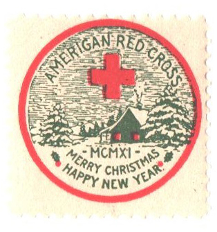 1911 American Red Cross Christmas Seal - Type I, perf 12
