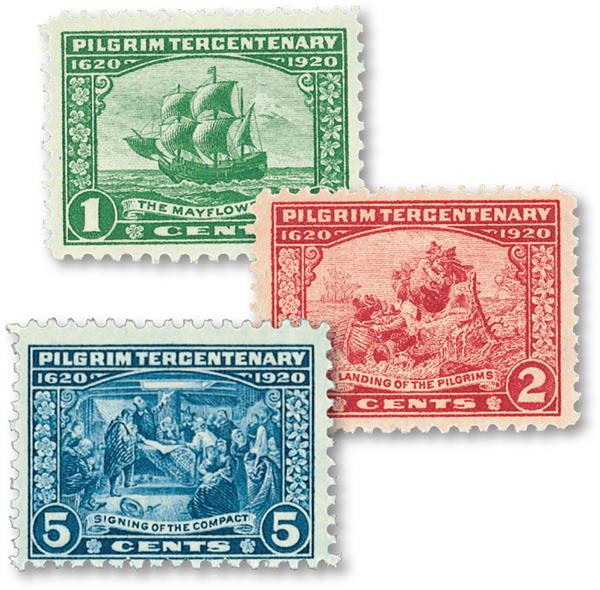 1920 Complete Commemoratives, 3 stamps